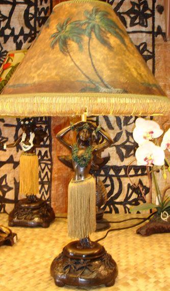 dancing hula girl lamps