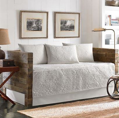 white daybed bedding