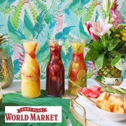 tropical decor at Costplus world market
