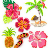 hawaiian scrapbook supplies