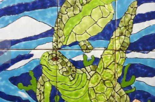 sea turtle back splash