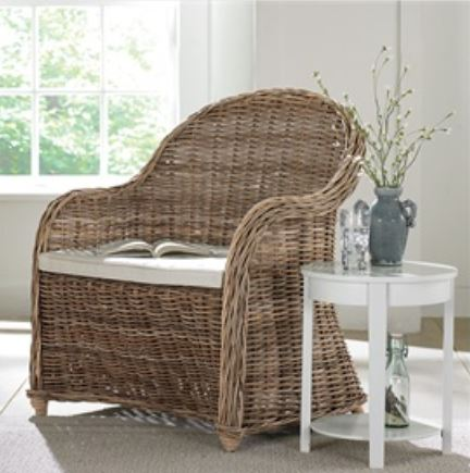 oversized wicker chair
