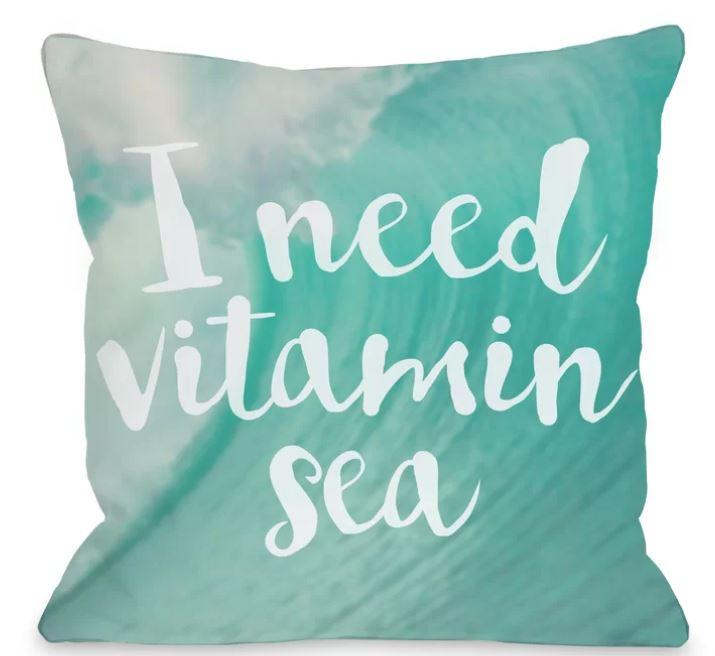 vitamin sea pillow