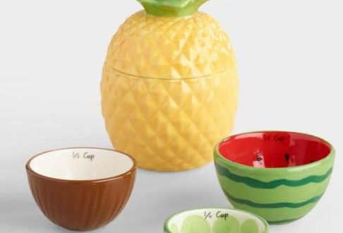 tropical fruit measuring cups