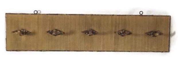 bamboo and rattan coat rack