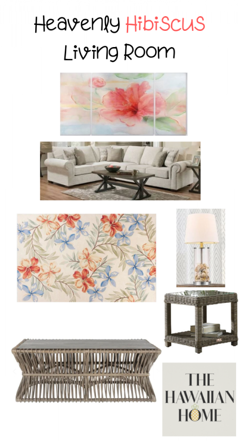 hibiscus living room
