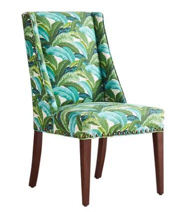 banana leaf print chair