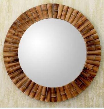 bamboo tropical mirrors